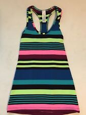 New IVIVVA Keep Ur Cool Racer Tank Top Striped Girls size 10