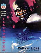 1965 NFL Los Angeles Rams v Detroit Lions Program 10/31/65 Ex 31345