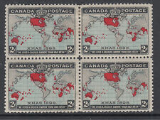 Canada Sc 86 MOG. 1898 2c Map of the British Empire, Block of 4