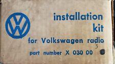 Volkswagen New Old Stock Radio Install Kit Type 3