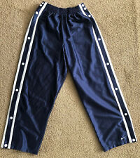 Vintage Nike Basketball Blue Warm Up Snap On Button Breakaway Pants