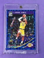 2018-19 Donruss Optic Blue Velocity Prizm #94 LeBron James 1st L.A Lakers Card🔥