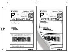 1,000 Half Sheet Self Adhesive Shipping Labels 8.5