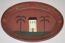 Small Oval Plate Americana Saltbox Federal House willow tree Plate Home decor