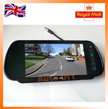 "7"" TFT LCD Widescreen Monitor Backup Camera Car Reverse Parking Rear View Kit"