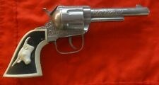 Vintage Western Toy Cap Pistol with Texas Longhorn Grip by Hubley - No Problems