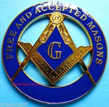 Master Mason Cut out Car Emblem F&AM #01 Blue Lodge Auto Cut Out Decal Freemason