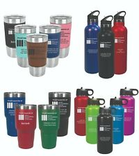 Personalized Stainless Steel Double Wall Insulated Vacuum Sealed Straw Flip-top