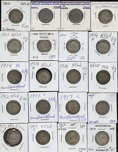 Lot 44 Newfoundland Silver Twenty & Twenty-Five Cents - Clearout Sale!
