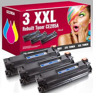 3x Toner für HP LaserJet Pro CE285A 85A P1100 P1102w