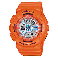 Casio Ba110sn Baby-g Shock Resistant Analogue Digital Watch LED Light Orange