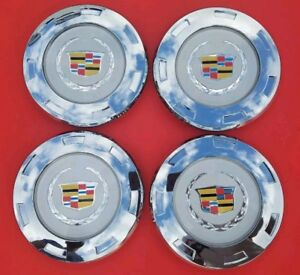 """4 PCS New 07-14 CADILLAC ESCALADE COLORED Replacement"""" WHEEL CENTER CAPS 9596649"""