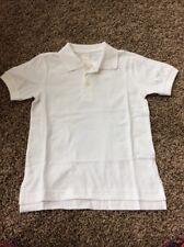 Gymboree NWT Boys Uniform Solid White Polo Shirt Size 7