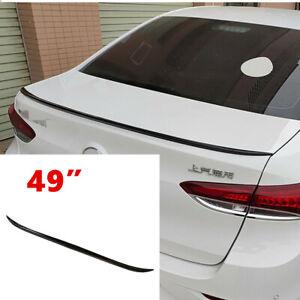 Universal Car Rear Roof Lip Spoiler Tail Trunk Wing Sticker PU Gloss Black 125cm