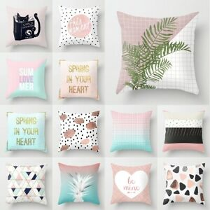 18'' Square Geometric Waist Cushion Cover Throw Pillow Case Sofa Home Decor