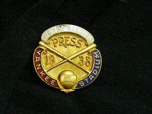1938 Dieges & Clust New York Yankees World Series Press Pin