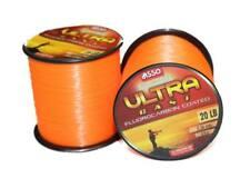 ASSO ULTRA CAST Fluorocarbon Coated Fishing Line - 4oz Spool - ORANGE