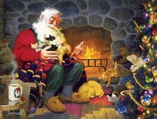Puzzle 500 Teile - Newsom: Weihnachtsmann vorm Kamin von SunsOut