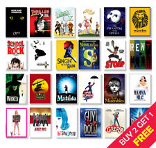 Best Musical Theatre Posters, A3 A4 Size Glossy Art Print, Hanging Wall Decor