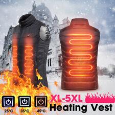 Men Electric USB Heated Vest Jacket Warm Up Heating Pad Cloth Body Warmer UK NEW