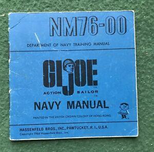 Vintage 1964 Hasbro GI Joe #7600 Action Sailor NM76-00 Large Navy Manual