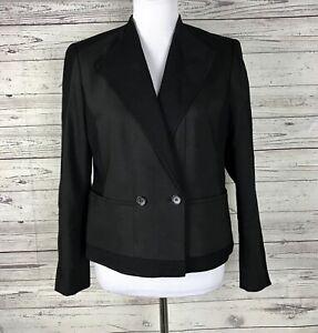 Ann Taylor Petite Women's Black 2-Button Long Sleeve Blazer / Jacket Size 12P