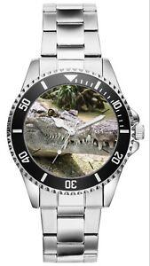 Krokodil Geschenk Artikel Fan Uhr 20499