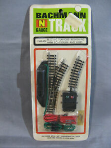 Bachmann N Gauge Electric Turnout RH with Controller and Wires Track #7662-450