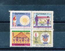 Used Guyanese Stamp Blocks