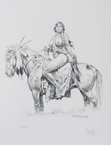 Paolo SERPIERI :  La Guerrière - LITHOGRAPHIE érotique signée, 200ex, 2009
