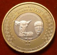 French Africa - Moyen Congo 1 Franc 2014 UNC Okapi Bi-metallic WWI Unusual coin