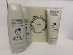 Liz Earle 3 Piece Gift Set Bourban Vanilla & Clove Bud Body Cream And Body Wash