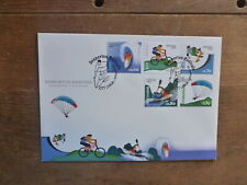 PORTUGAL 2014 EXTREME SPORTS SET 5 STAMPS FDC FIRST DAY COVER