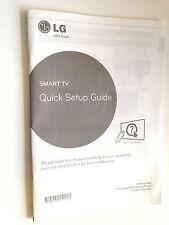 GENUINE ORIGINAL LG LED TV QUICK SETUP GUIDE LB63 LB65 LB67 LB68 LB69 LB70 LB72