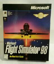 Microsoft Flight Simulator 98 computer CD 1997 Windows game PC
