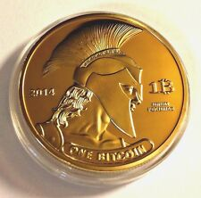 BITCOIN Gold Plated Titan Commemorative Coin BTC Bitcoin Collectible
