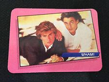 WHAM 1985 ROCK STAR ODD BALL CONCERT CARD GEORGE MICHAEL & RIDGELEY TRADING CARD