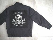 Vintage MARC VACHON 2005-06 Black Rock Metal Band Tour Bomber Jacket MEDIUM USED