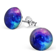 New 925 Sterling Silver Galaxy Logo Stud Earrings Space Stars Pair Earring