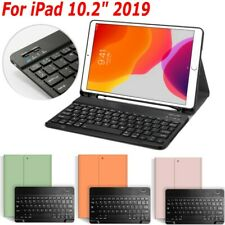 """For iPad 7th Gen 10.2"""" 2019 Wireless Keyboard Case Stand with Pencil Holder"""
