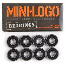 Mini Logo Skateboard Bearings Set of 8 Bearings