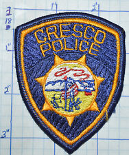 "IOWA, CRESCO POLICE DEPT SMALL HAT 3.25"" PATCH"