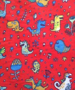 DINOSAUR,DRAGONS, CUTE, KIDS, cotton mix fabric sold /PER METRE/