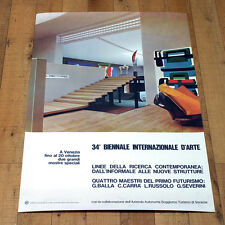 34° BIENNALE INTERNAZIONALE D'ARTE poster manifesto affiche Venezia 1968 B43