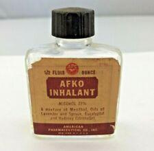 Antique Afko Inhalant 1/2 Fluid Ounce American Pharmaceutical Medicine Bottle