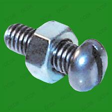 "30x 2BA 1/2"" Slotted Round Head Steel Machine Screws, Nut & Bolt Set Zinc Plated"