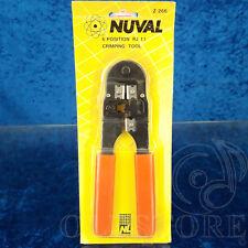 ►NUVAL Z-266◄NEW CRIMPING TOOL 6 POSITION RJ 11 PINZA PER CRIMPATURA 6 POSIZIONI