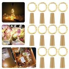 20× 2m LED Weinflasche Kork String Light Nacht Lichterkette Party Flaschenlicht