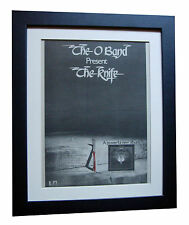 THE O BAND+Knife+POSTER+AD+RARE+ORIGINAL 1977+QUALITY FRAMED+FAST GLOBAL SHIP 2