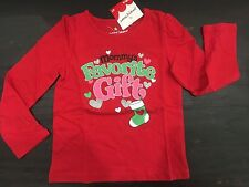New Jumping beans Size 4 4t Mommy's Favorite Gift Christmas Holiday shirt top